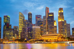 Beautiful Singapore at twilight Royalty Free Stock Images