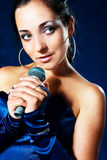 Beautiful singer Stock Photo