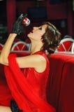 Beautiful singer Royalty Free Stock Photos