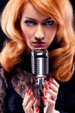 Beautiful singer Stock Photos