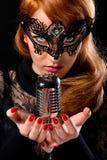 Beautiful singer royalty free stock images