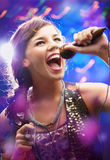Beautiful singer Royalty Free Stock Images