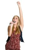 Beautiful Singer stock photo
