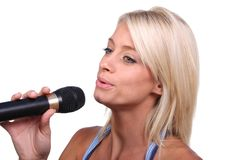 Beautiful Singer Royalty Free Stock Photography