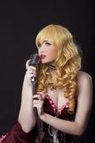Beautiful singer cosplay anime character Stock Images