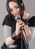 Beautiful singer Royalty Free Stock Photo