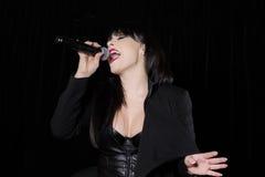 Beautiful singer singing Royalty Free Stock Images