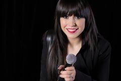 Beautiful singer singing Royalty Free Stock Photo