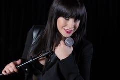 Beautiful singer singing Royalty Free Stock Photography