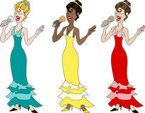 Beautiful singers Royalty Free Stock Images