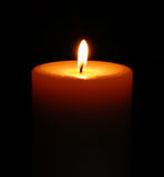 Beautiful Single Candle Royalty Free Stock Photography
