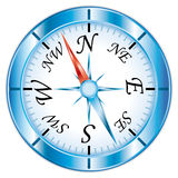 Beautiful single compass icon. Royalty Free Stock Images