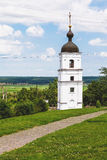 Beautiful single white stone bell tower Royalty Free Stock Photography