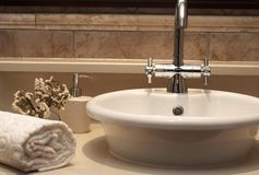 Beautiful sink in a bathroom Royalty Free Stock Photography