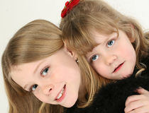 Beautiful Sisters royalty free stock photography