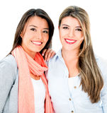 Beautiful sisters smiling Stock Photography