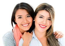 Beautiful sisters smiling Royalty Free Stock Images
