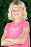 Beautiful six year old girl. A beautiful, cherubic six year old blond girl Stock Image