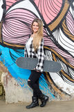 Beautiful Skateboarder Stock Photo