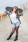 Beautiful Skateboarder Stock Photography