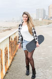 Beautiful Skateboarder Stock Photos
