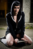 Beautiful skater teen girl Royalty Free Stock Image