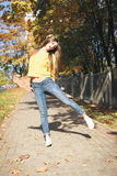 A beautiful skater woman Royalty Free Stock Photography