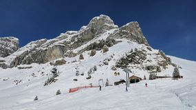 Beautiful ski area in Braunwald Royalty Free Stock Images