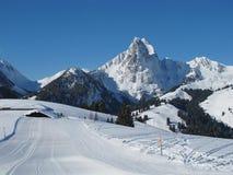 Beautiful ski area Eggli, mountains Stock Photo
