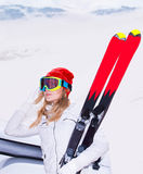 Beautiful ski instructor Royalty Free Stock Images