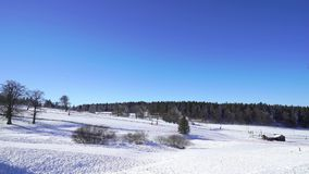 Beautiful ski slope on mountain resort in Alsace. Timelapse view. stock video