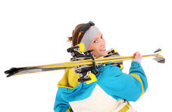 Beautiful skier Royalty Free Stock Photo