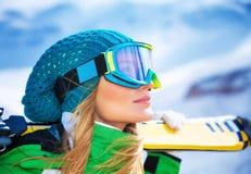Beautiful skier girl portrait Royalty Free Stock Image