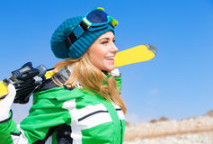 Beautiful skier woman Royalty Free Stock Photos