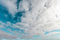 Beautiful skies with clouds. Beautiful skies with clouds going into perspective - background royalty free stock photography
