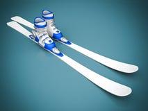 Beautiful skiing Stock Photo