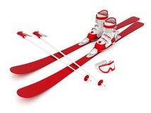 Beautiful skiing Stock Images