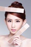 Beautiful Skin care woman Face Stock Image