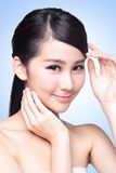 Beautiful Skin care woman Face Stock Image