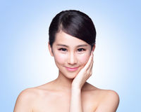 Beautiful Skin care woman Face Royalty Free Stock Photo