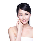 Beautiful Skin care woman Face Stock Photo
