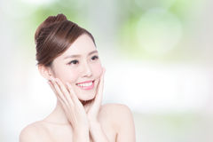 Beautiful Skin care woman Face Royalty Free Stock Photos