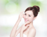 Beautiful Skin care woman Face Royalty Free Stock Image