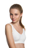Beautiful skinny model. Portrait of a beautiful skinny model Royalty Free Stock Image