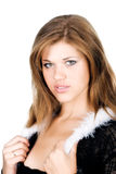 Beautiful skinny woman. Fashion. Art. Photo Stock Image
