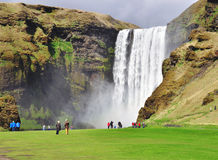 Beautiful Skogafoss Stock Images