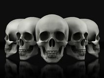 Beautiful skull made of textured metal Royalty Free Stock Photos
