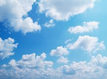 Beautiful sky. Beautiful clouds on the blue sky Royalty Free Stock Images