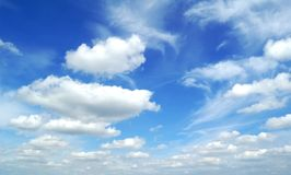 Beautiful sky. Beautiful clouds on the blue sky Royalty Free Stock Image