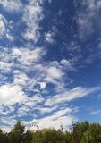 Beautiful sky above one of the largest park in Bucharest Royalty Free Stock Image